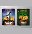 halloween vertical background with pumpkins vector image vector image