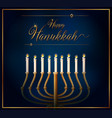 Happy hannukkah card template with candles on