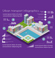 isometric city map industry infographic set vector image vector image