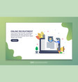 landing page template online recruitment vector image vector image
