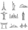landmark outline vector image vector image