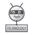 logo round robot head vector image