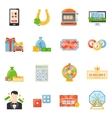 Lottery And Jackpot Decorative Icons vector image