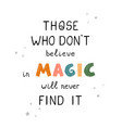 magic - fun hand drawn nursery poster with vector image