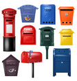 mail box post mailbox postal mailing vector image