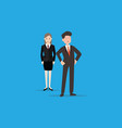 man and women employee vector image