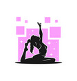 modern female yoga sport logo vector image