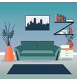 Modern Interior Living Room Design vector image vector image