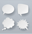 paper speech bubbles white origami 3d retro vector image