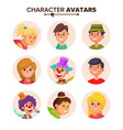 people characters avatars set color vector image vector image