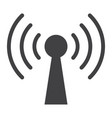 podcast glyph icon web and mobile communication vector image vector image
