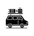 road trip black glyph icon vector image
