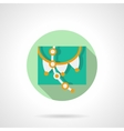 Round flat icon for party decor vector image