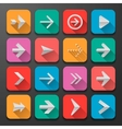Set arrows icons flat UI design trend
