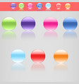 set of seven beautiful buttons in different colors vector image