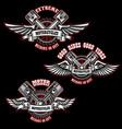 set of vintage custom motorcycle emblems design vector image vector image