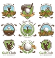 Set of vintage golf emblems vector image vector image