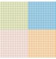 set seamless tartan pattern vector image
