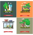 set street traffic concept posters vector image