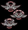 set vintage custom motorcycle emblems design vector image vector image