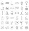 sport icons set outline style vector image vector image