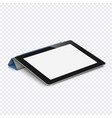 tablet with blank screen isolated on transparent vector image vector image