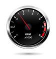 tachometer car dashboard gauge vector image vector image