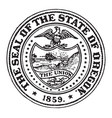 the great seal of the state of oregon vintage vector image vector image