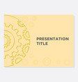 theme gear display powerpoint vector image vector image