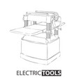 thicknesser machine on white vector image vector image