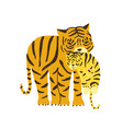tiger carrying its cub isolated on white vector image