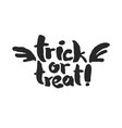 trick or treat with wings vector image vector image