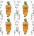 vegetables carrots black and white vector image vector image