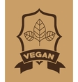 vegetarian food menu design vector image