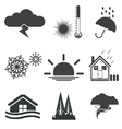 weath set icons vector image vector image