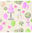 wedding pink pattern vector image vector image