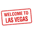 welcome to Las Vegas red grunge square stamp vector image vector image