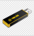 white usb flash drive vector image