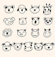 animal head vector image