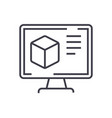 computer design line icon sign vector image