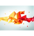 abstract colorful orange red yellow vector image