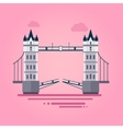 London Tower Bridge in Flat Style vector image