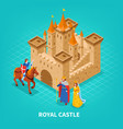 royal castle isometric composition vector image