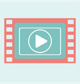video play frame vector image