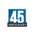 45th anniversary icon birthday logo vector image vector image
