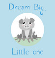 a piglet with a baby blue background vector image vector image