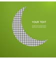 Abstract gray moon on a green background vector image