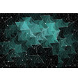 abstract polygonal space dark background vector image