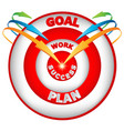 arrows leading to the goal vector image
