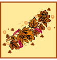 Autumn Floral vector image vector image